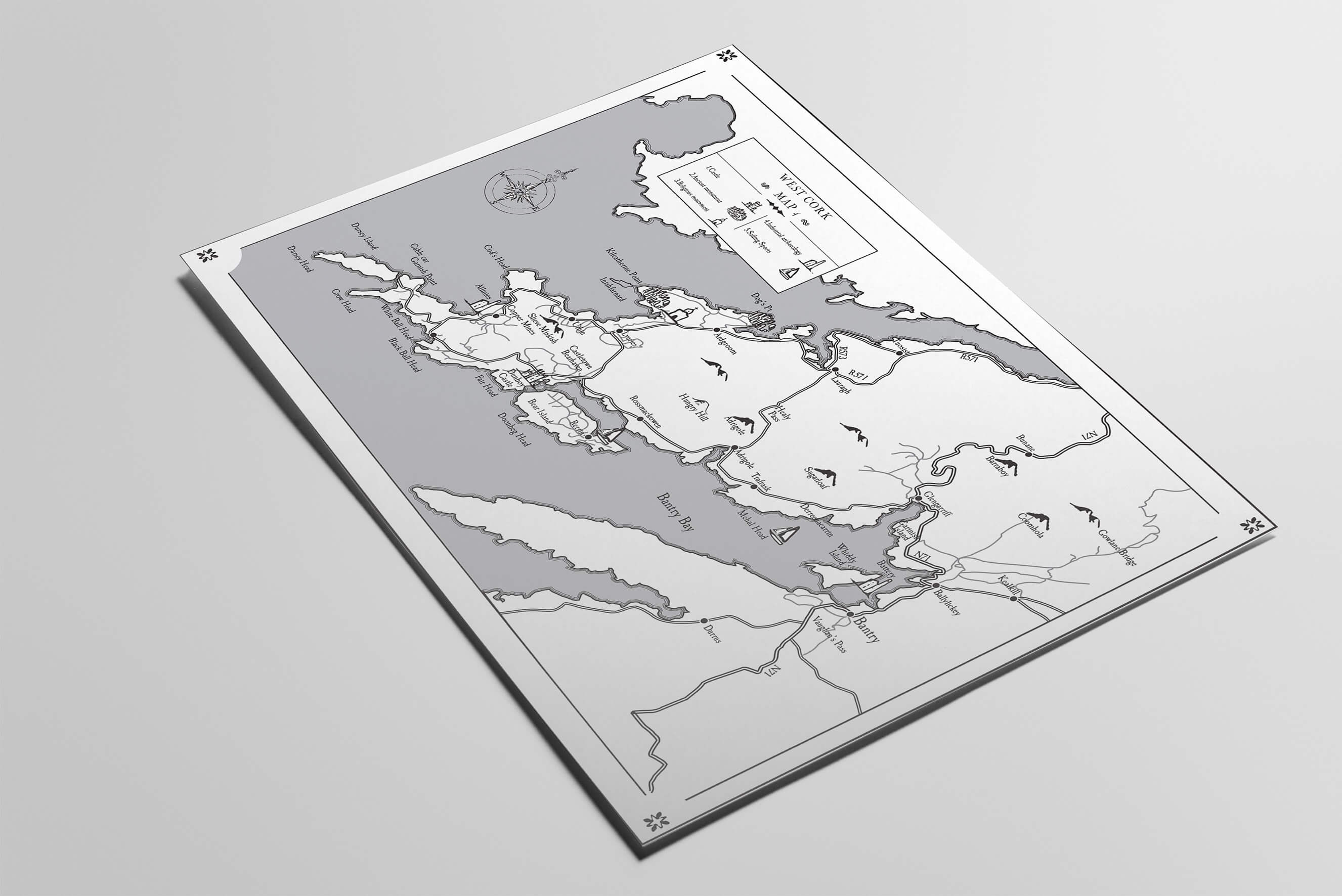 Map Illustration for West Cork